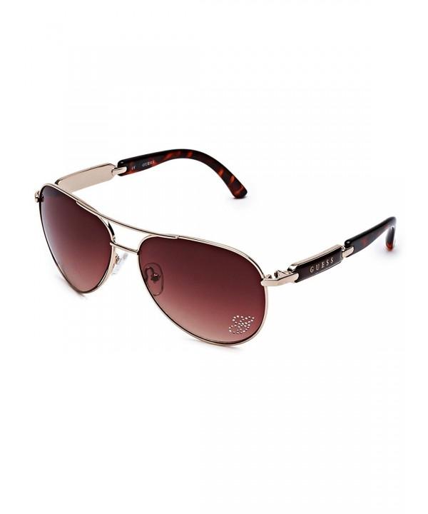 GUESS Factory Mirrored Aviator Sunglasses