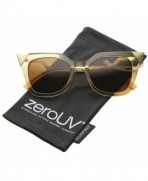 zeroUV Translucent Lightning Sunglasses Brown Gold