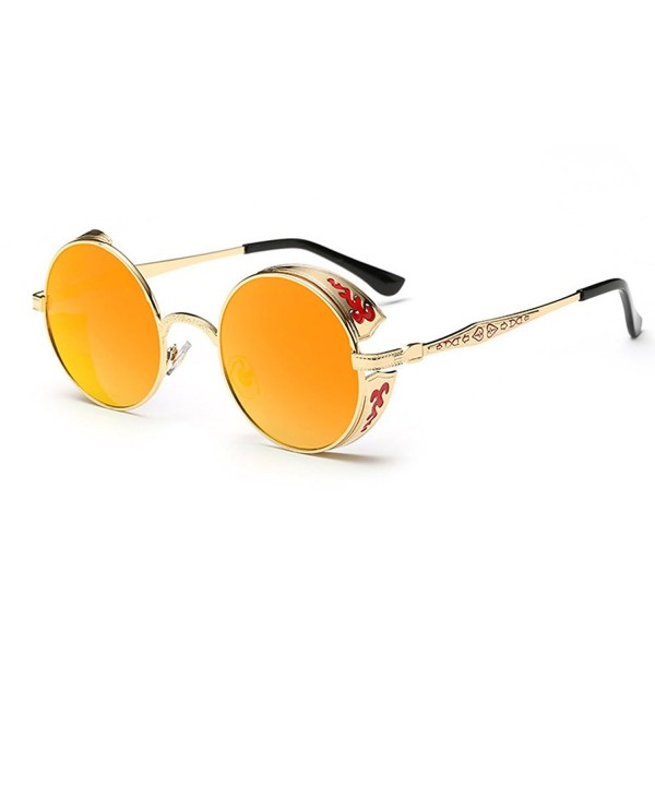 Blue Sunshine Flowers Reflective Sunglasses