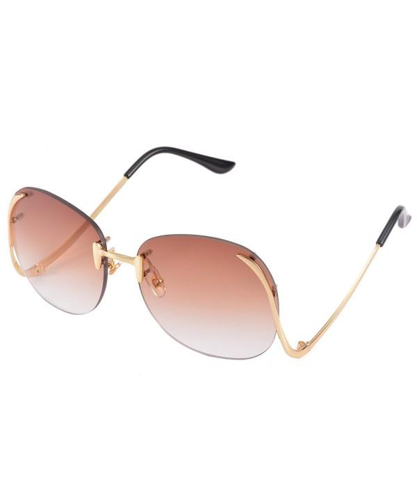 COASION Vintage Oversized Rimless Sunglasses