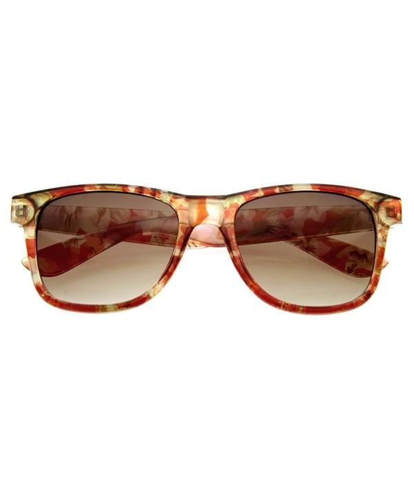 zeroUV Designer Floral Rimmed Sunglasses